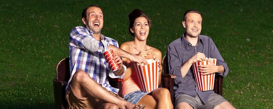 Sesión de cine de verano... ¡Con máquina de palomitas incluida!